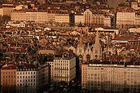 Europe/France/Rhône-Alpes/69/Rhone/Lyon: L'église Saint Nizier vue depuis la Basilique Notre-Dame de Fourviere