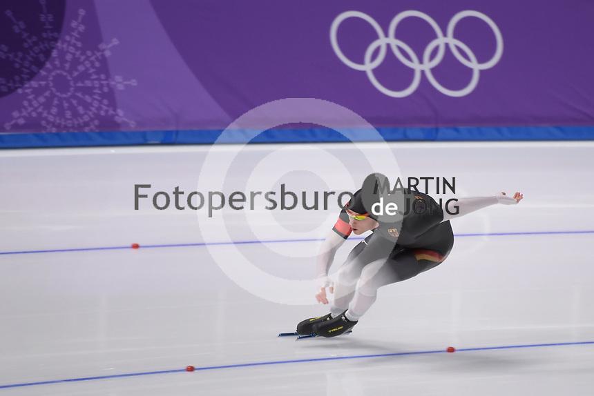 OLYMPIC GAMES: PYEONGCHANG: 19-02-2018, Gangneung Oval, Long Track, 500m Men, Nico Ihle (GER), ©photo Martin de Jong