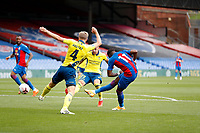 5th September 2020; Selhurst Park, London, England; Pre Season Friendly Football, Crystal Palace versus Brondby; Wilfried Zaha of Crystal Palace shoots and scores his sides 1st goal in the 33rd minute to make it 1-0
