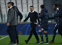 Football Soccer: UEFA Champions League -Round of 16 2nd leg Juventus vs FC Porto, Allianz Stadium. Turin, Italy, March 9, 2021.<br /> Porto's coach Sergio Conceicao (C) celebrate with his players after winning the Uefa Champions League football soccer match between Juventus and Porto at Allianz Stadium in Turin, on March 9, 2021.<br /> UPDATE IMAGES PRESS/Isabella Bonotto