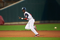 Cedar Rapids Kernels shortstop Nick Gordon (5) running the bases during a game against the Kane County Cougars on August 18, 2015 at Perfect Game Field in Cedar Rapids, Iowa.  Kane County defeated Cedar Rapids 1-0.  (Mike Janes/Four Seam Images)