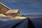 Barn in winter, Union County, Pennsylvania