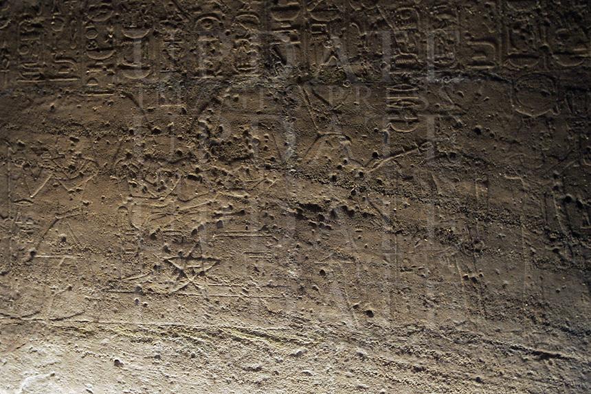 Incisioni nel Tempio rupestre di Ellesija, all'interno del Museo Egizio di Torino.<br /> Engraving in the rocky Temple of Ellesija, in the Egyptian Museum of Turin.<br /> UPDATE IMAGES PRESS/Riccardo De Luca