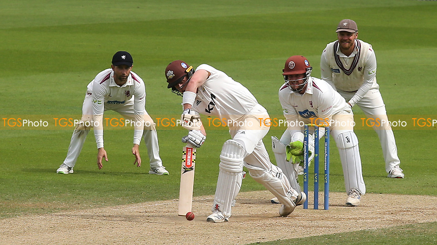 Jamie Smith of Surrey in batting action during Surrey CCC vs Somerset CCC, LV Insurance County Championship Group 2 Cricket at the Kia Oval on 13th July 2021