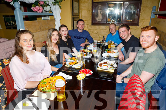 Enjoying the evening in the Brogue Inn on Thursday.<br /> L to r: Katie Killeenn, Megan Brennan, Mary O'Connor, Kevin Donnelly, Gearoid Sheehan, Mike Keane and Richie Whelan.
