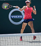 April  6, 2017:  Samantha Stosur (AUS) loses to Irina-Camelia Begu (ROU) 7-5, 6-3,  at the Volvo Car Open being played at Family Circle Tennis Center in Charleston, South Carolina.  ©Leslie Billman/Tennisclix/Cal Sport Media