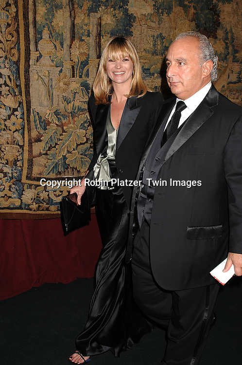Kate Moss and guest..arriving at The 7th on Sale Black Tie Gala Dinner on ..November 15, 2007 at The 69th Regiment Armory in New York. The Fashion Industry's Battle Against HIV and AIDS..will benefit. CFDA and Vogue were 2 of the sponsors...Robin Platzer, Twin Images