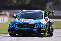 9th July 2021;  Goodwood  House, Chichester, England; Goodwood Festival of Speed; Day Two; a Ford Mustang tackles the Goodwood Hill Climb