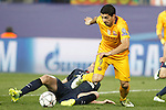Atletico de Madrid's Diego Godin (l) and FC Barcelona's Luis Suarez during Champions League 2015/2016 Quarter-Finals 2nd leg match. April 13,2016. (ALTERPHOTOS/Acero)