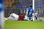 St Johnstone v Motherwell…..12.02.20   McDiarmid Park   SPFL<br />Chris Kane scores his goal<br />Picture by Graeme Hart.<br />Copyright Perthshire Picture Agency<br />Tel: 01738 623350  Mobile: 07990 594431