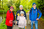 Jess Hanslin, Egle and Minte Saladziute and Neil Kelly at the clean up in Killarney National Park on Sunday