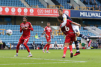 Jake Cooper of Millwall goes close during Millwall vs Middlesbrough, Sky Bet EFL Championship Football at The Den on 8th July 2020