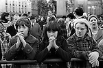 Peace Movement. Peace People. Peace March supporters rally in Trafalgar Square. 1976.