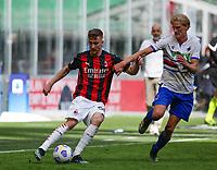 Milano 03-04-2021<br /> Stadio Giuseppe Meazza<br /> Serie A  Tim 2020/21<br /> Milan - Sampdoria<br /> Nella foto: Alexis Saelemaekers                                     <br /> Antonio Saia Kines Milano