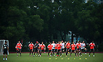 GUANGZHOU, GUANGDONG - JULY 26:  Players of Bayern Munich run during a training session ahead the friendly match against VfL Wolfsburg as part of the Audi Football Summit 2012 on July 26, 2012 at the Tianhe Sports Stadium in Guangzhou, China. Photo by Victor Fraile / The Power of Sport Images