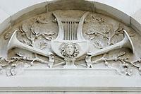 Dettaglio della facciata del Gran Teatro La Fenice a Venezia.<br /> Detail of the facade of the Gran Teatro La Fenice opera house in Venice.<br /> UPDATE IMAGES PRESS/Riccardo De Luca