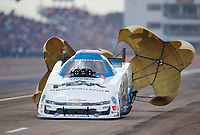 Oct 20, 2019; Ennis, TX, USA; NHRA funny car driver John Force during the Fall Nationals at the Texas Motorplex. Mandatory Credit: Mark J. Rebilas-USA TODAY Sports