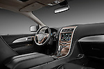 Passenger side dashboard view of a 2011 Lincoln MKX.