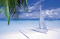 The famous white beach in Boracay, Philippines
