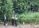 16.08.2020 Livingston v Rangers: Rangers fans hiding in the bushes on a hill behind Almondvale Stadium trying to get a glimpse of the match