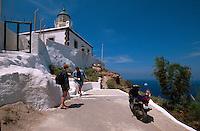 Leuchtturm bei Akrotiri, Insel Santorin (Santorini), Griechenland, Europa