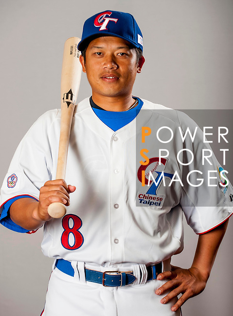 Chen, Chiang-Ho of Team Chinese Taipei poses during WBC Photo Day on February 25, 2013 in Taichung, Taiwan. Photo by Victor Fraile / The Power of Sport Images