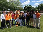 Sharpstown students enjoy a game with Houston Dynamo Boniek Garcia