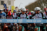 The peloton lines up for the start of Stage 4 of Paris-Nice 2021, running 187.5km from Chalon-sur-Saone to Chiroubles, France. 10th March 2021.<br /> Picture: ASO/Fabien Boukla | Cyclefile<br /> <br /> All photos usage must carry mandatory copyright credit (© Cyclefile | ASO/Fabien Boukla)