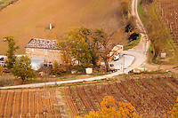 Domaine de l'Aigle. Limoux. Languedoc. The winery building. France. Europe. Vineyard.