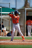 GCL Astros Jose Alvarez (6) at bat during a Gulf Coast League game against the GCL Marlins on August 8, 2019 at the Roger Dean Chevrolet Stadium Complex in Jupiter, Florida.  GCL Astros defeated GCL Marlins 4-2.  (Mike Janes/Four Seam Images)