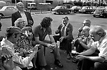 Works office factory party outing annual coach trip to the seaside Southend on Sea Essex England 1974. 1970s Uk