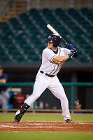 Montgomery Biscuits first baseman Joe McCarthy (31) at bat during a game against the Mississippi Braves on April 24, 2017 at Montgomery Riverwalk Stadium in Montgomery, Alabama.  Montgomery defeated Mississippi 3-2.  (Mike Janes/Four Seam Images)