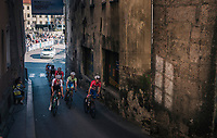 entering the Hell Höll climb section<br /> <br /> MEN UNDER 23 ROAD RACE<br /> Kufstein to Innsbruck: 180 km<br /> <br /> UCI 2018 Road World Championships<br /> Innsbruck - Tirol / Austria