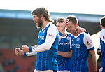 St Johnstone v Ross County…24.02.18…  McDiarmid Park    SPFL<br />Murray Davidson celebrates his first goal<br />Picture by Graeme Hart. <br />Copyright Perthshire Picture Agency<br />Tel: 01738 623350  Mobile: 07990 594431