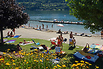 Oesterreich, Kaernten, Millstaetter See, Millstatt: Strandbad | Austria, Carinthia, Lake Millstatt, Millstatt: Lido