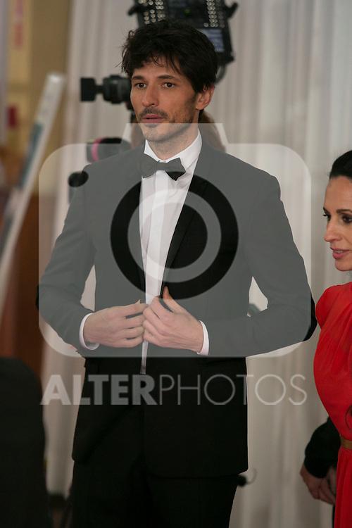Andres Velencoso attend the 2015 Goya Awards at Auditorium Hotel, Madrid,  Spain. February 07, 2015.(ALTERPHOTOS/)Carlos Dafonte)