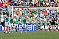 Carli Lloyd takes a free kick during the USA's 3-1 win vs Mexico in Group A of the 2008 CONCACAF Olympic Women's Qualifying Tournament  in Ciudad Juarez, Mexico, April 6, 2008.
