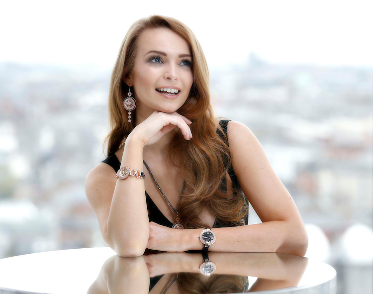 No Repro Fee.<br /> Models Aoife Walsh pictured at the launch of the GUINNESS® by Newbridge Silverware Collection at the GUINNESS® STOREHOUSE.  This new and exciting collaboration sees the coming together of two iconic brands to produce a carefully created premium collection of jewellery, homeware and gifts that reflect the rich history of crafting expertise and excellence that is synonymous with both companies. The collection is available now in selected stockists nationwide and online at <br /> www.newbridgesilverware.com/guinness.  Pic. Robbie Reynolds