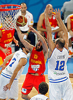 Sergio Rodriguez of Spain in action during European basketball championship Eurobasket 2013, round 2, group F  basketball game between Italy and Spain in Stozice Arena in Ljubljana, Slovenia, on September 16. 2013. (credit: Pedja Milosavljevic  / thepedja@gmail.com / +381641260959)