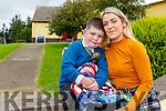 Bridget Roche collecting her son Jack O'Sullivan  after he started junior infants in Loughfouder NS Knocknagoshel on Wednesday