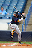 Joe Rizzo (6) Oakton High School in Oak Hill, Virginia playing for the Cleveland Indians scout team during the East Coast Pro Showcase on July 28, 2015 at George M. Steinbrenner Field in Tampa, Florida.  (Mike Janes/Four Seam Images)