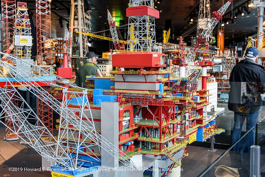 Model of North Sea oil platform at Oil Museum