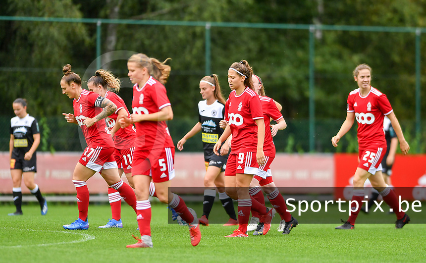 pictured during a female soccer game between Standard Femina de Liege and Eendracht Aalst dames on the fourth matchday in the 2021 - 2022 season of the Belgian Scooore Womens Super League , Saturday 11 th of September 2021  in Angleur , Belgium . PHOTO SPORTPIX | BERNARD GILLET