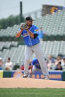 Akron RubberDucks pitcher Joe Colon (25) during game against the Trenton Thunder at ARM & HAMMER Park on July 14, 2014 in Trenton, NJ.  Akron defeated Trenton 5-2.  (Tomasso DeRosa/Four Seam Images)
