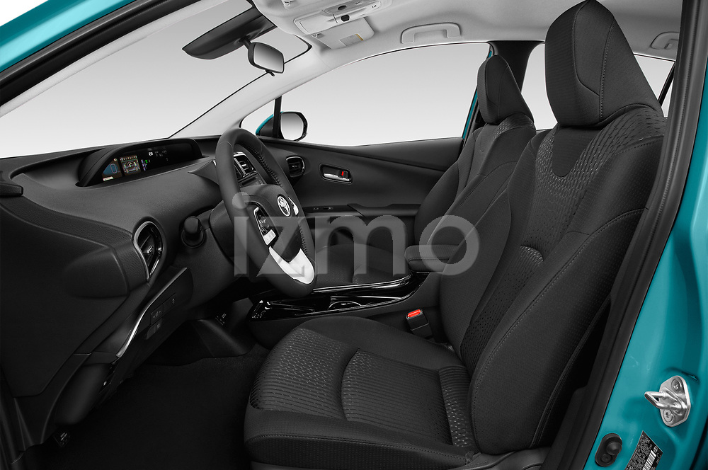 Front seat view of 2019 Toyota Prius-Prime Plus 5 Door Hatchback Front Seat  car photos