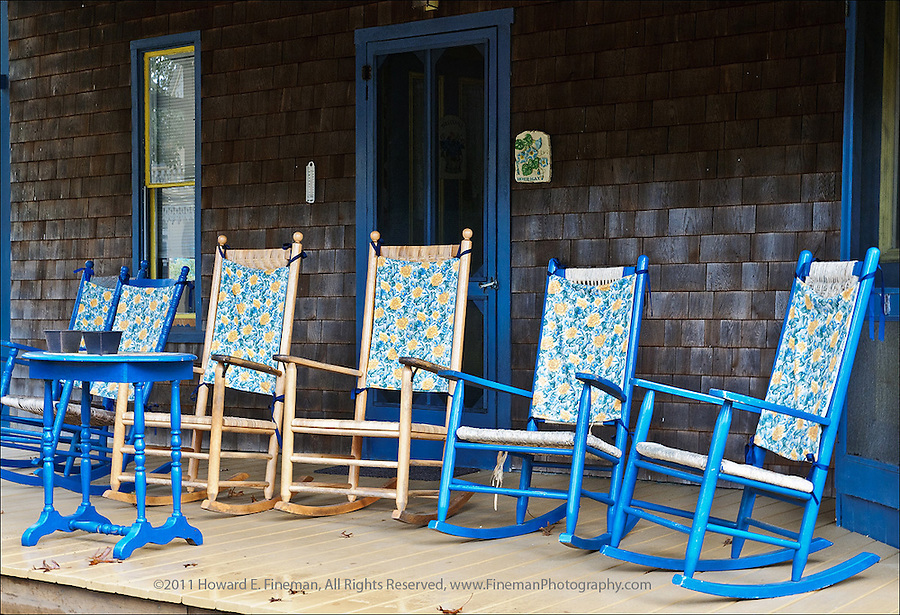 Rockers, Campground, Oak Bluffs, Martha's Vineyard