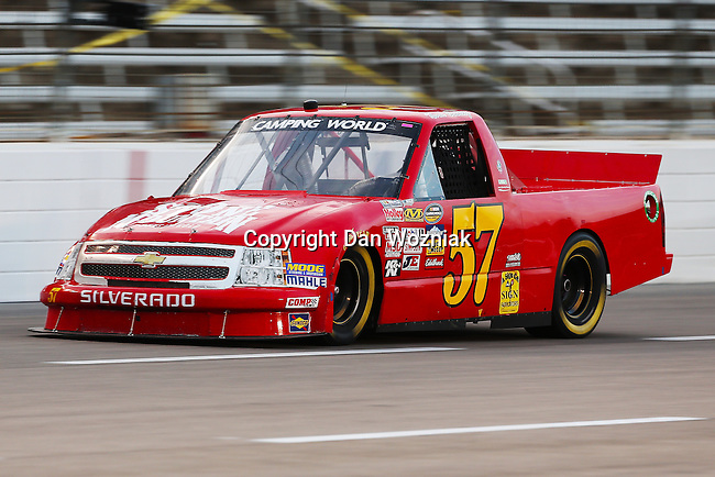 Camping World Truck Series driver Norm Benning (57) in action during the NCWTS Winstar World Casino 400 race at Texas Motor Speedway in Fort Worth,Texas.