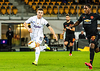 12th March 2020, TGW Arena, Pasching, Austria; UEFA Europa League football,  LASK versus Manchester United; Dominik Reiter LASK is beaten by the run from Odion Ighalo Manchester United