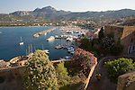 Yacht harbor from the Citadel, Calvi, West Coast Corsica, Corsica, France, towns in Corsica, French coastal villages, Corsican coast,