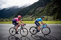 Mikel Landa (ESP/Movistar) & Hugh Carthy (GBR/EF Education First)<br /> <br /> Stage 17: Commezzadura (Val di Sole) to Anterselva/Antholz (181km)<br /> 102nd Giro d'Italia 2019<br /> <br /> ©kramon